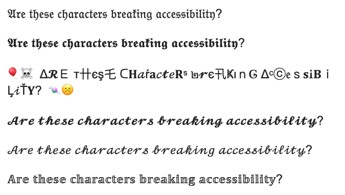 Tweet accessibility example